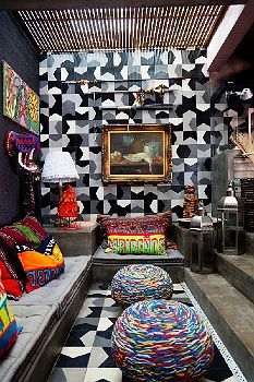 SELBY // Cris and Marcelo Rosenbaum at Home in São Paulo - texture, colour, pattern!!