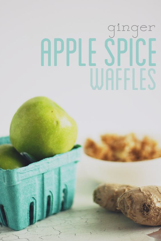 ginger apple spice waffles