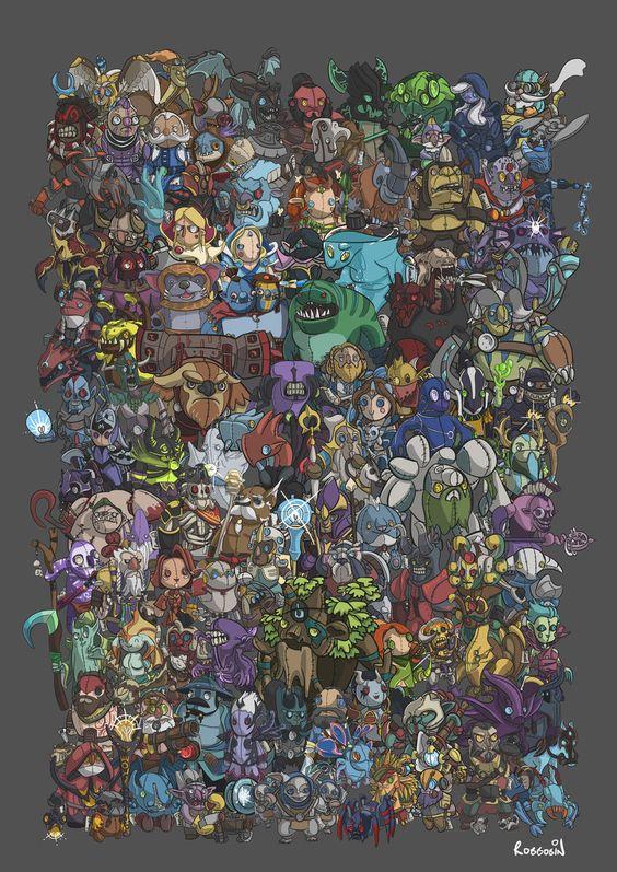 Dota Character Design Pdf : All dota heroes art pinterest and