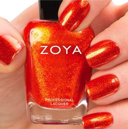 Zoya Zp670 Amy Red Orange Metallic Nail Polish Lacquerirresistible