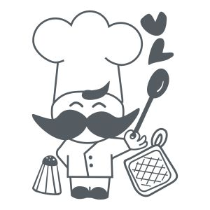 Chef feliz vinilo decorativo cocina mi futura cocina for Programas de dibujo de cocinas gratis
