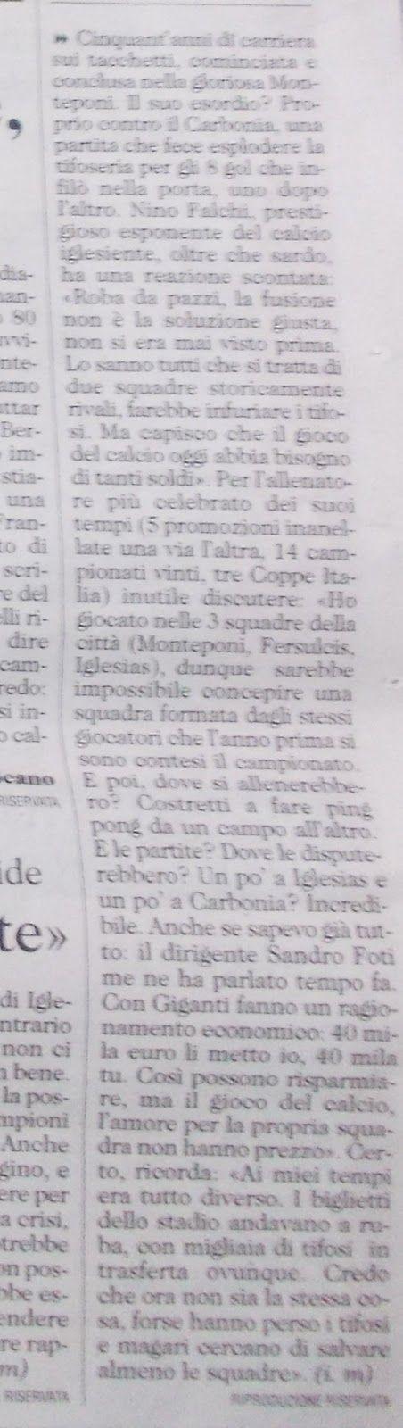 """SCRIVOQUANDOVOGLIO: NINO FALCHI """"E' PAZZESCO,COMPAGNI STORICAMENTE SUP..."""