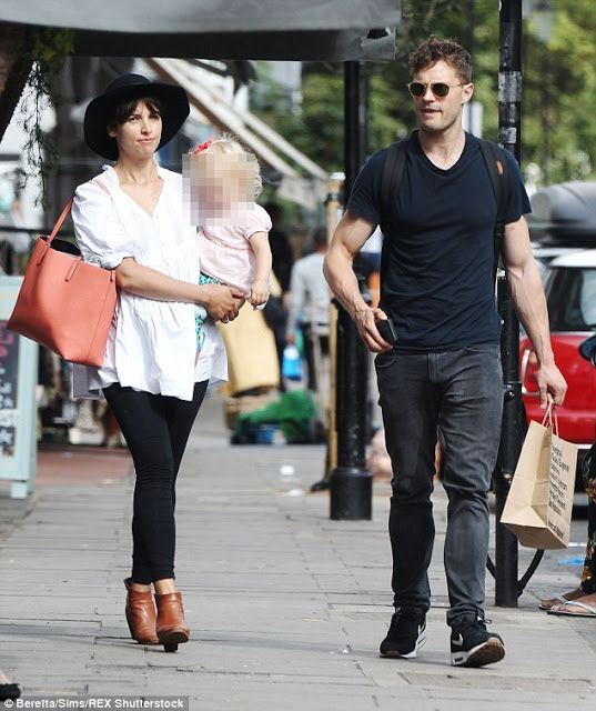 Jamie Dornan Life: New Pictures of Jamie and His Family in London Tod...
