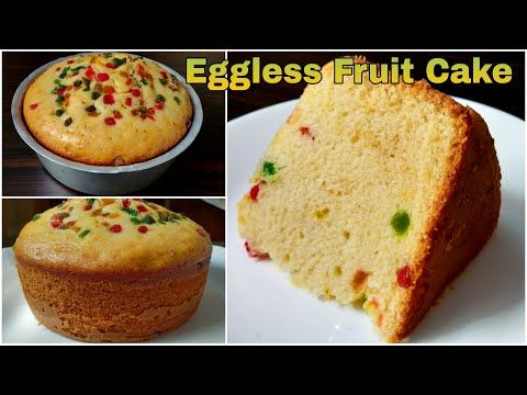 Eggless Fruit Cake Soft Sponge Cake Without Oven Condensed Milk Curd Cream Butter Butterpaper Youtube In 2020 Fruit Cake Vegan Cake Food