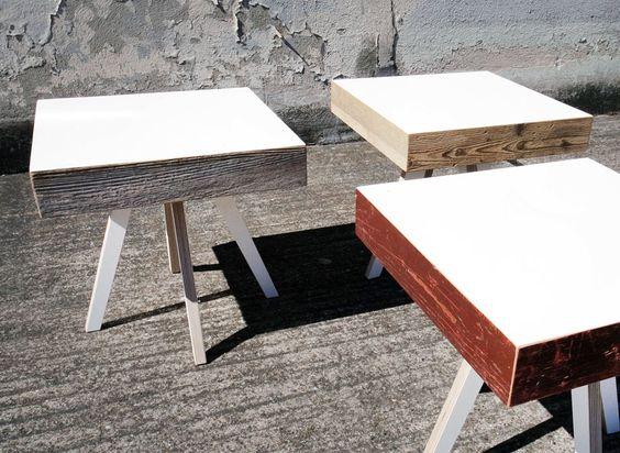 Beistelltische mit Altholz