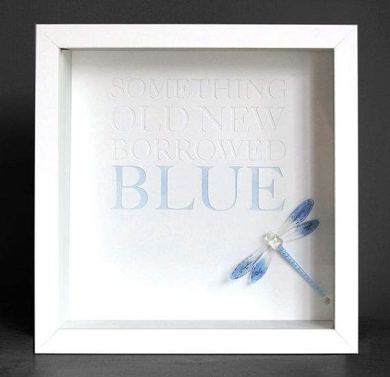 Something Old New Borrowed Blue Glass Dragonfly by beckyfairclough, £60.00