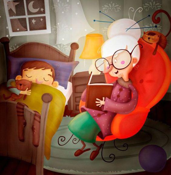 ¡Hora de dormir!... Nada como un buen cuento... Los libros son un banquete para la mente.