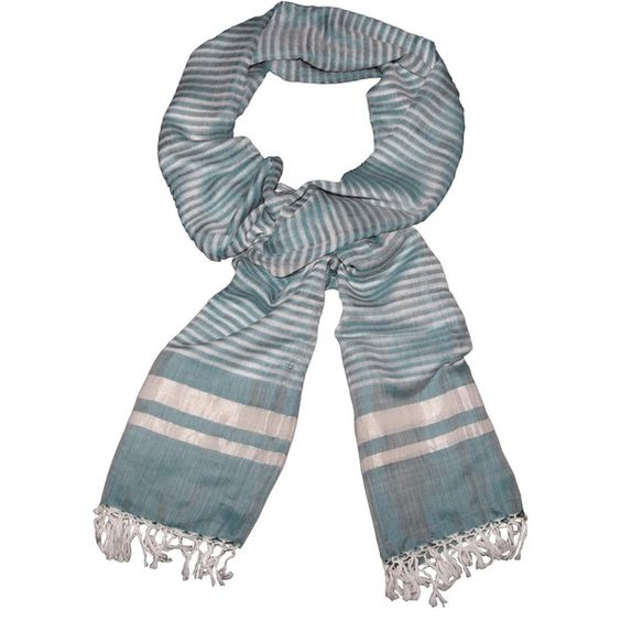 Uchit Hana Scarf ($149) ❤ liked on Polyvore featuring accessories, scarves, long scarves, oblong scarves and long shawl
