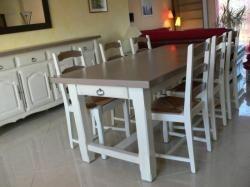 Meuble repeint blanc et taupe deco pinterest taupe - Patiner un meuble blanc ...
