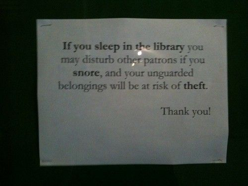 Library sign. library-love