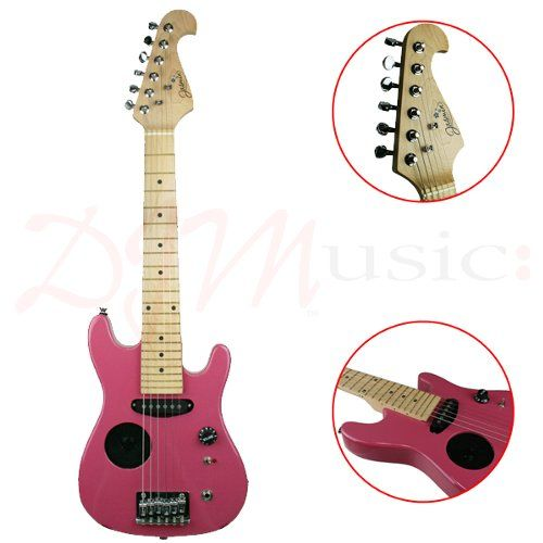 jasmin 1 2 electric guitar w amp pink the size jasmine electric guitar in a candy pink. Black Bedroom Furniture Sets. Home Design Ideas