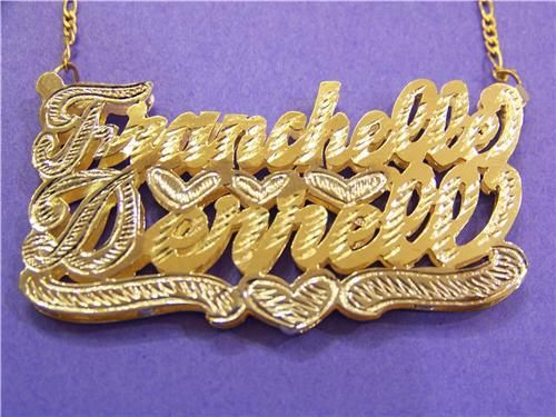 Gp Two Double Nameplate Name Necklace Personalized Hip Hop In 2020 Name Necklace Nameplate Necklace Silver Gold Chain Jewelry
