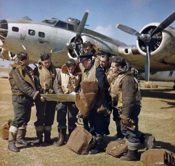 B17 Royal Air Force Coastal Command Terceira Island in the Azores, 1943