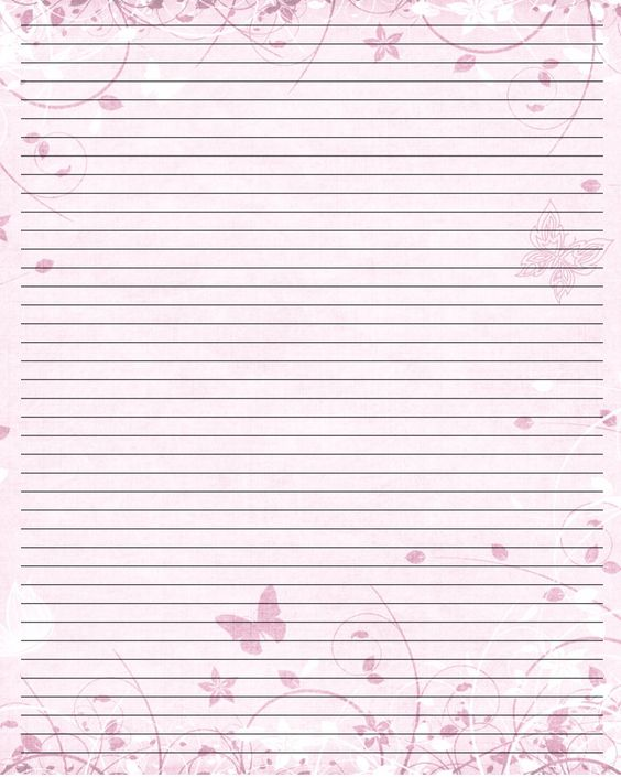 Butterfly Print Paper Printable Writing Paper (44) by u003dLady - printing on lined paper