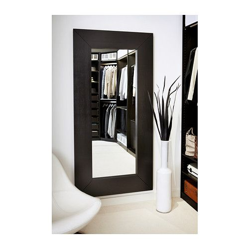 Mongstad mirror black brown ikea mirror and full for Full length mirror in living room