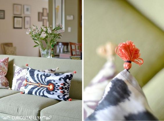 DIY home crafts DIY Home Made Anthro Inspired Throw Pillows DIY home crafts
