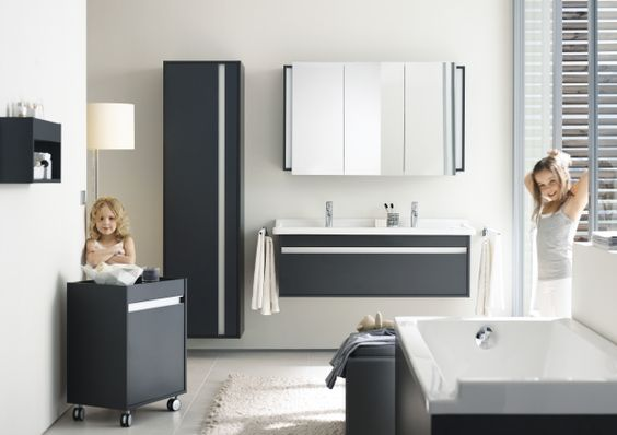 Little Ladies Having Fun In Their Families New Bathroom - www.remodelworks.com #bathroom #women