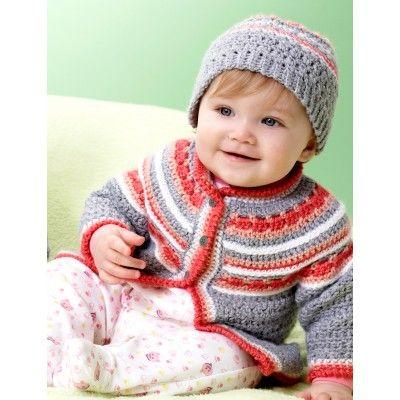 Intermediate Baby's Sweater Set Crochet Pattern