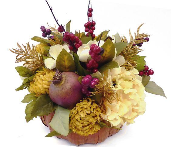Autumn Thanksgiving Pomegranate Centerpiece