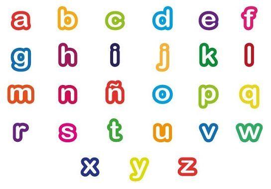 Abecedario En Minúsculas Para Colorear Bebeazul Top Letter A Crafts Block Lettering Letters