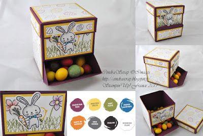 """CindraScrap: Blog Hop Stampin'Up!: Distributeur à Bonbons """"Panier de Pâques"""" et son tutoriel en vidéo.:"""