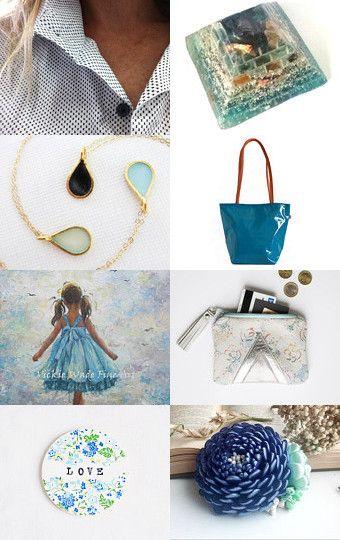 BLUE SKY by SHUNA on Etsy--Pinned with TreasuryPin.com