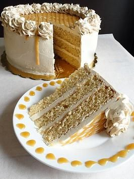 oh. my.  Old-Fashioned Butterscotch Cake. A buttery delight for any occasion!