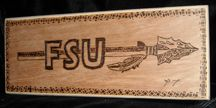 Burnt-Wood Art Logo FSU Florida State University