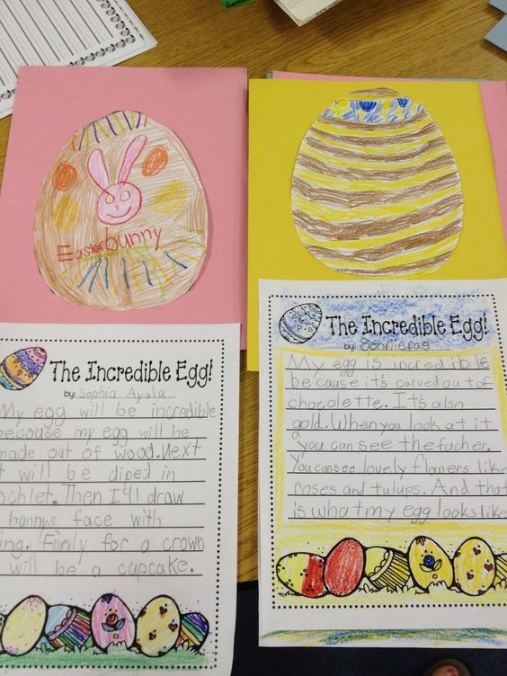rechenkas eggs writing activity for 2nd