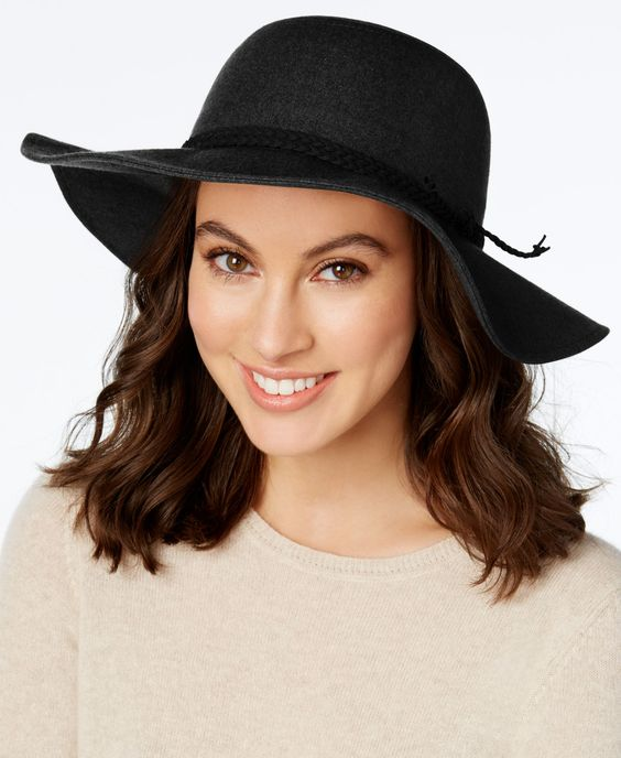 Inc International Concepts Braided Faux Suede Band Floppy Hat, Only at Macy's