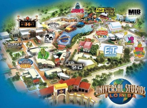 universal studios hollywood – Tourist Map Of Hollywood