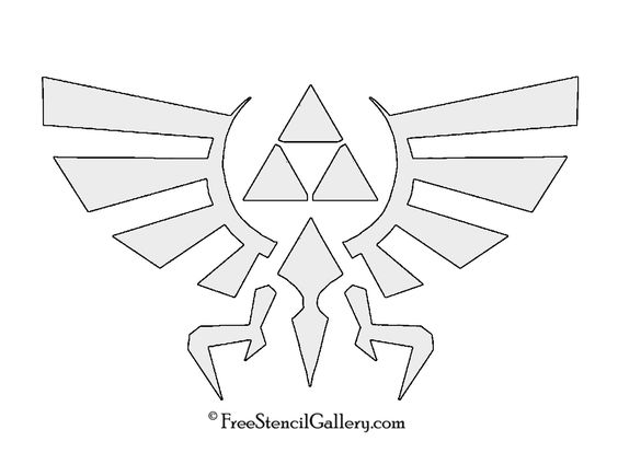 The legend of zelda triforce symbol stencil nc