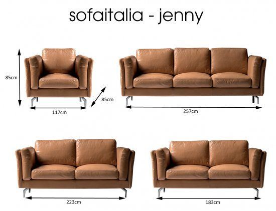 Newtrend Concepts Jenny 3 Seat Maxi Italian Leather Sofa Jenny 2314 257x85cm In 2020 Italian Leather Sofa Leather Sofa Sofa