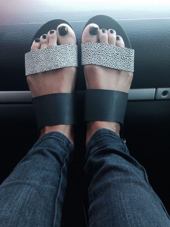 Love my new flats #shoes#flats#slides