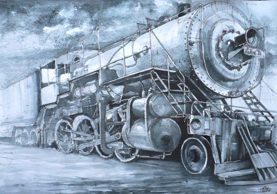 locomotive by Kasiarzynka on DeviantArt