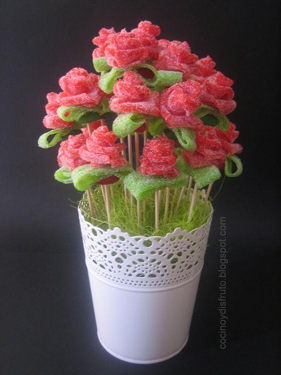 Bouquet de rosas de regaliz