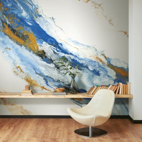 York Wallcoverings Blue And Gold Cystal Geode Peel And Stick Wallpaper Rmk11553m Bellacor Mural Wallpaper Wall Murals Peel And Stick Wallpaper