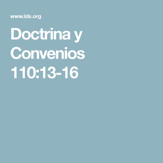 Doctrina y Convenios 110:13-16