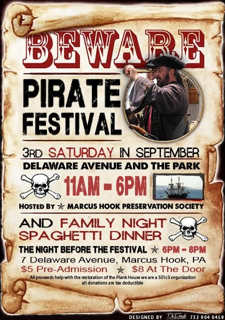 Marcus Hook Pirate Festival Family Night Spaghetti Dinner The Night Before