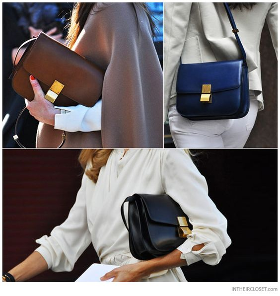 celini bags - Fashion Insiders carrying a C��line Classic Box Bag | Dress for ...