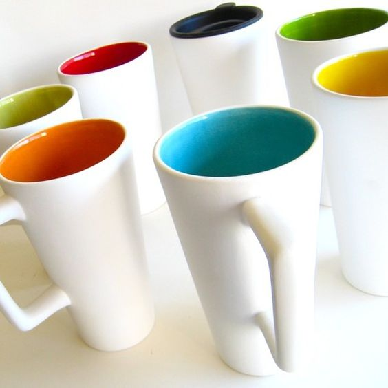 What a better way to start your day then to fill these beautiful travel mugs with fresh coffee! Made by AedrielOriginals on Etsy.