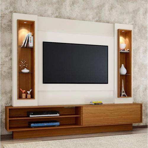 Foto 1 Estante Home Para Tv Ate 46 Polegadas 1 Porta De Correr Led Tb129l Dalla Costa Off White Freij Mobilier De Salon Meuble Mural Meuble Tv Angle