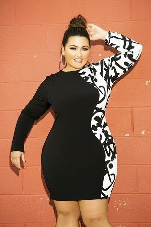 Half and Half Graffiti Dress by Curvaceous Boutique on CurvyMarket.com Plus Size: