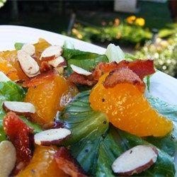 "Romaine and Mandarin Orange Salad with Poppy Seed Dressing   ""I made ..."