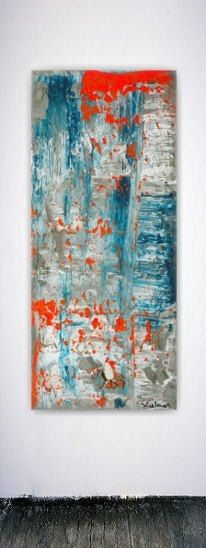canvas art abstract painting large wall art orange blue 1000 ideas about beige walls on pinterest realtor sites