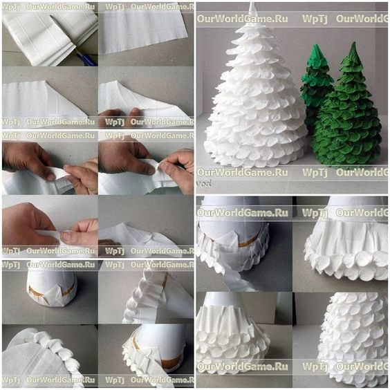 How to make Corrugated Paper Christmas Tree step by step DIY