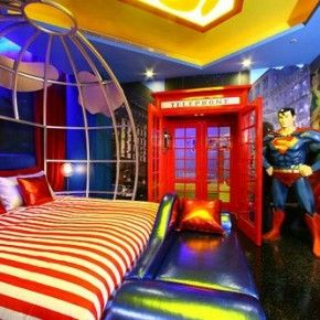 Superman bedroom theme ideas from getitcut.com