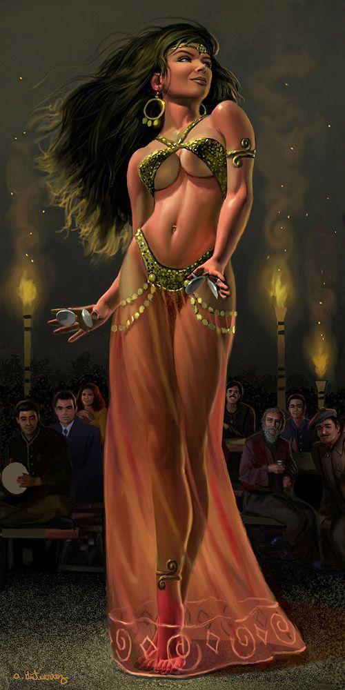 Dancing gypsy art bond belly dancer by stardriv deviantart com on