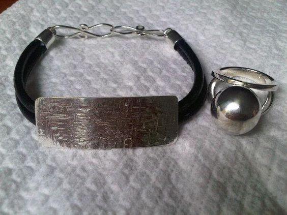 esclava y anillo plata