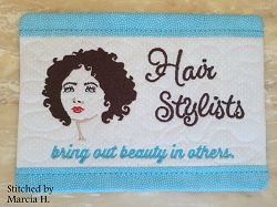Hairstylists Mug Rug - 5x | What's New | Machine Embroidery Designs | SWAKembroidery.com Oma's Place